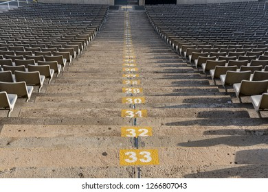 Empty stadium texture with steps and seats