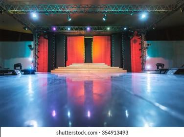 Empty stage and dance floor