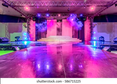Empty stage and dance floor