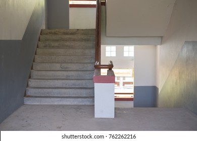 empty staircase at school