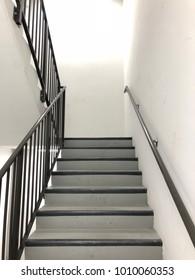 Empty stairwell in a quiet building.