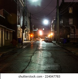 An empty steet in the evening in Lexington, Kentucky, USA
