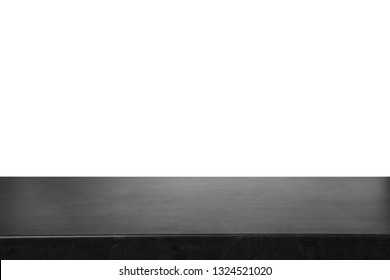Empty stone surface against white background. Mockup for design