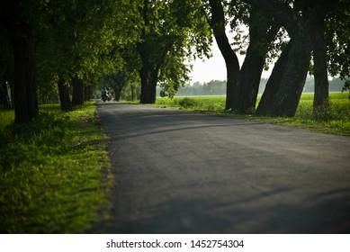 An empty street around an urban area unique photo