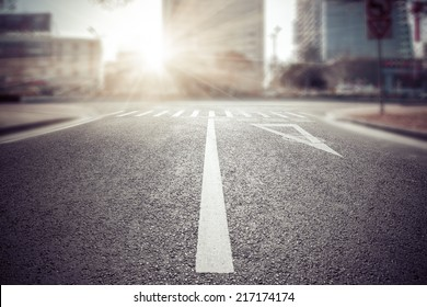 empty street, city in china.