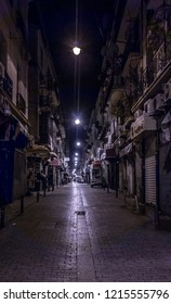 Empty Street during the night in Constantine, French Architecture in 3rd big city in Algeria,