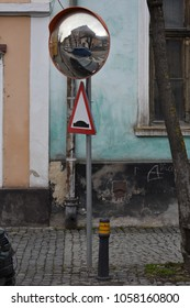 Empty street mirror