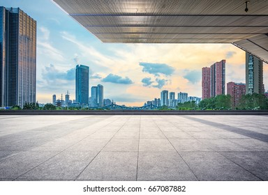 empty street in modern city