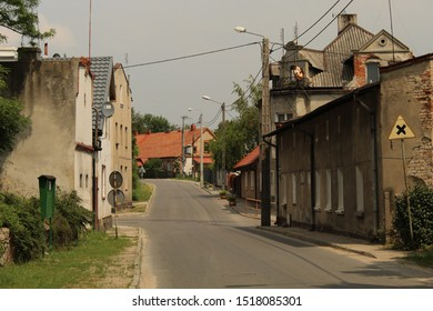 Empty street and old houses