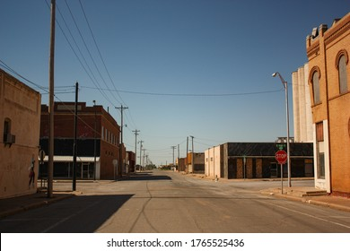 Empty Streets in Old Town of Hollis Oklahoma