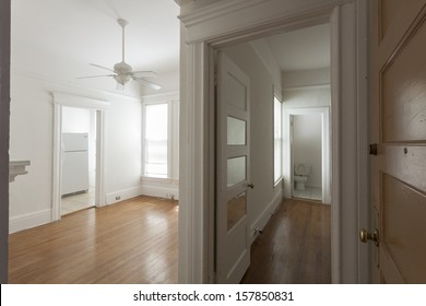 An empty studio apartment.