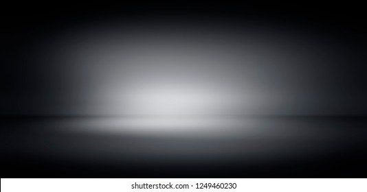 Empty studio gradient background and display product