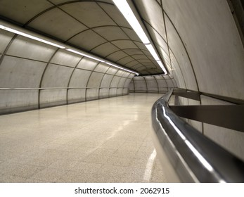 Empty subway station in Bilbao, Basque Country, Spain