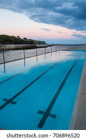 Empty swimming pool at Clovelly Beach.