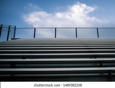 Empty Symmetrical Sports Stadium Bleachers