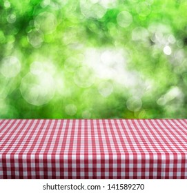 Empty table for Your photomontage or product display.