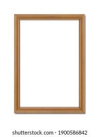empty teak wood frame for wall art