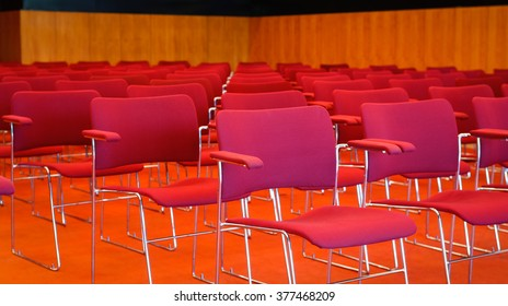 Empty theater auditorium cinema or conference hall.