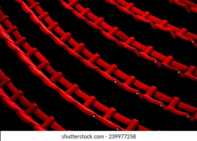 Empty theater with red chairs. Top view.