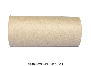 empty toilet paper roll Isolate on White Background