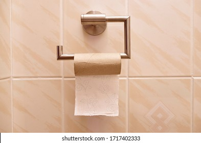 Empty Toilet Paper Roll, toilet paper sales and panic buying concept.