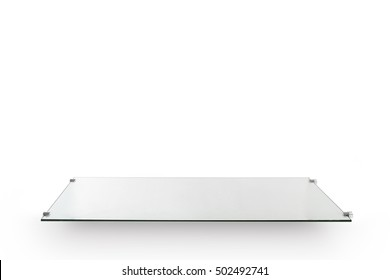 Empty top glass of the table, isolated.for presentation.