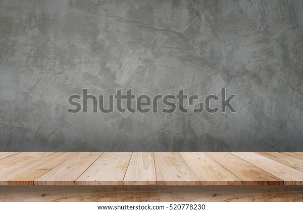 Empty Top Shelves Table Wood On Stock Photo (Edit Now) 520778230