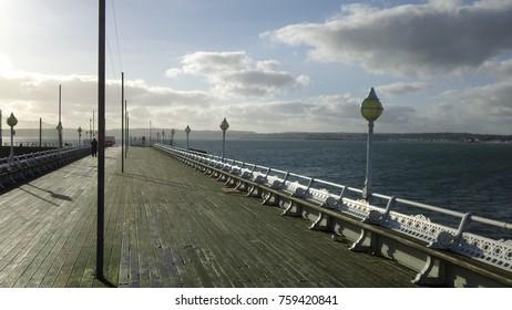 Empty Torquay pier