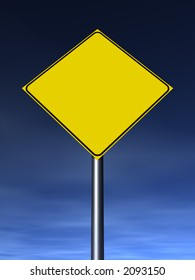 Empty traffic sign. Fill it with your graphics.