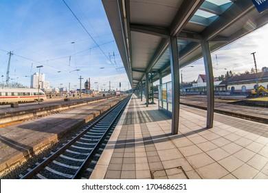 empty trainstation in Wiesbaden, Germany