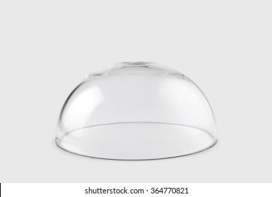 Empty transparent glass dome