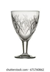 Empty transparent liqueur glass