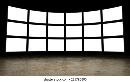 Empty tv screens