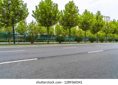 Empty urban road in the city