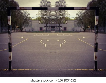 empty Urban soccer field