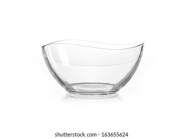 Empty vase of glass, isolated on a white background