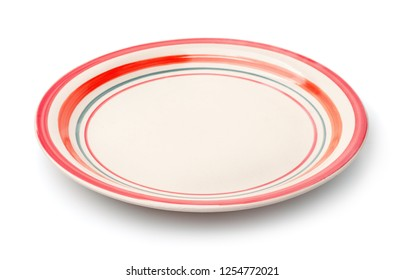 Empty vintage dish isolated on white