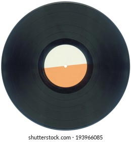 Empty Vinyl Record Isolated with Clipping Path