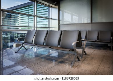 Empty waiting area at the airport, airport lounge