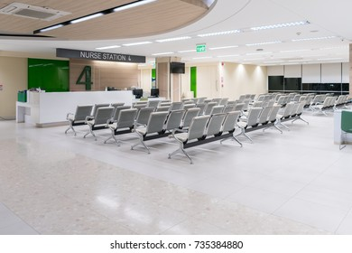 Empty waiting lounge at the hospital
