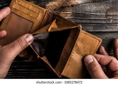 empty wallet due no money