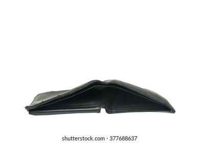 empty wallet isolated on white background