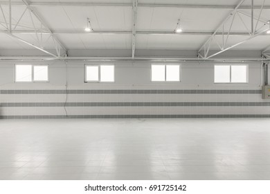 empty warehous, clean white space