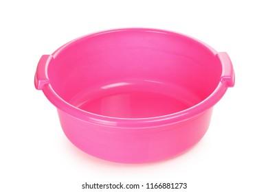 empty wash bowl isolated on white