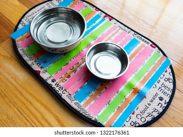 empty water and food bowl for small dog