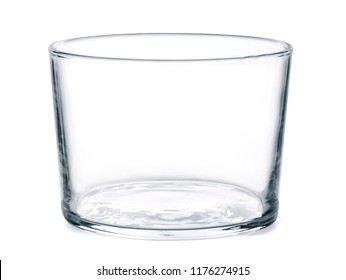 Empty water glass, isolated on white.