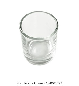 Empty water glass shot glasses isolated on white background, Cocktail Glasses collection.