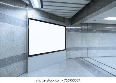 Empty white billboard mockup background