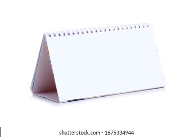 Empty white calendar with copy space for text on white background isolation