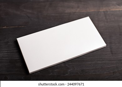 Empty white chocolate bar package mockup